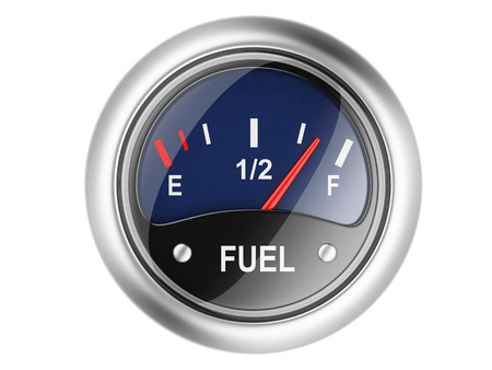 Fuel gauge. 3d illustration isolated on a white illustration