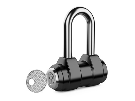 Padlock isolated on white 3d illustration isolated on a white illustration