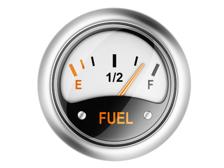 Fuel gauge. 3d illustration isolated on a white background illustration