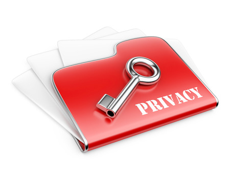 private folder - privacy information concept.. 3d illustration isolated on a white background  illustration
