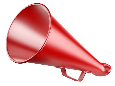 Red Megaphone. 3d illustration isolated on a white. illustration