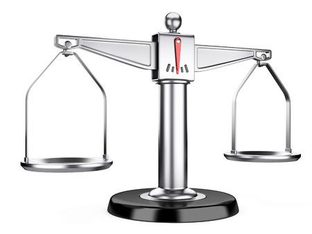 Zilveren schalen van rechtvaardigheid of medische schalen geïsoleerd op een witte achtergrond