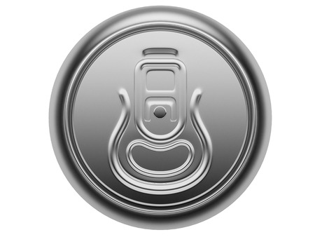 aluminum can: aluminium can isolated on a white background, view from the top