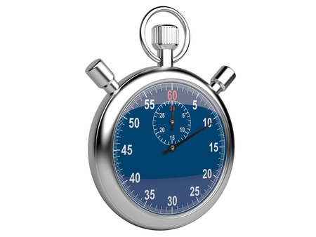 Stopwatch - time concept isolated on a white background. 3d illustration high resolution illustration