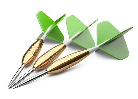 three darts isolated on a white background