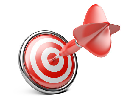 target arrow: Target with darts. Concept image for achieving business objectives.