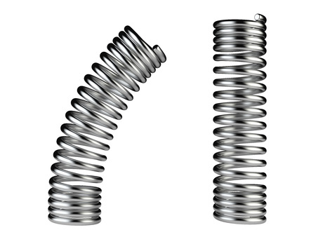 metal spring: Elastic metal spring, dynamic concept isolated on a white background Stock Photo