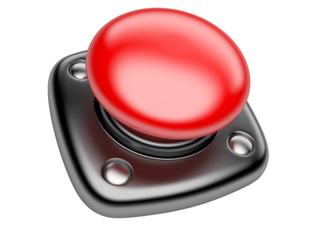 Red STOP button Isolated on white background 3d image photo