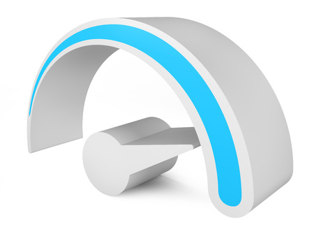speed test: Speedometer. Abstract 3d symbol of speed. template for you design