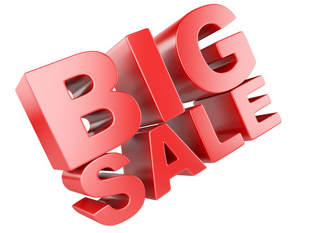 sale icon: 3D render of Big Sale Word isolated on a white background