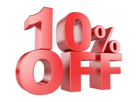 sellout: 10 percent off icon isolated on white background. Stock Photo