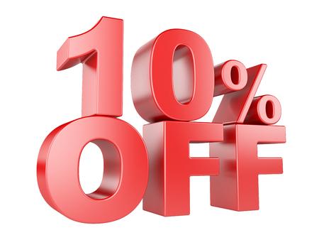 selloff: 10 percent off icon isolated on white background. Stock Photo