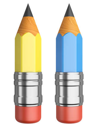 sharpened: Sharpened pencils.  3d illustration isolated on a white background.