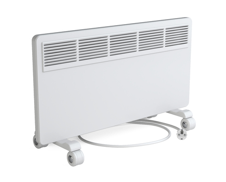 home equipment: Home equipment for heating - electric convector. High quality 3d illustration isolated on a white background.