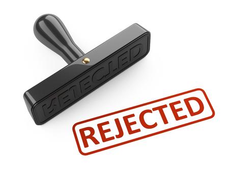 Stempel - abgelehnt. 3d Illustration lokalisiert über einem Weiß. Standard-Bild - 97782857
