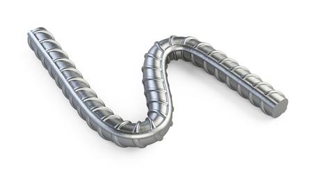 Neue gebogene Verstärkungen Stahlstange hautnah.
