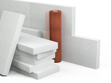 Set for insulation of walls of polystyrene block