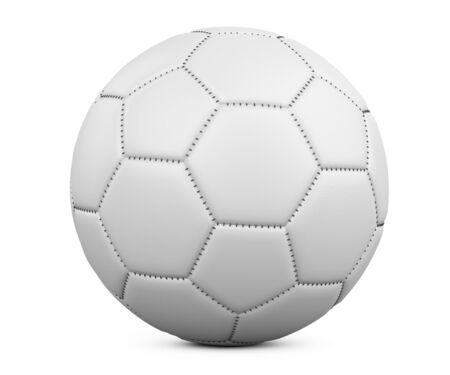 Soccer ball isolated on white background. High resolution 3d illustration on a white background.