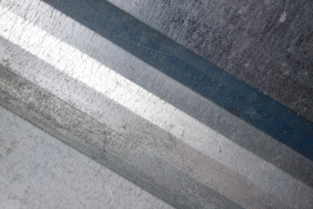 galvanised: A closeup of a galvanised iron sheet of metal