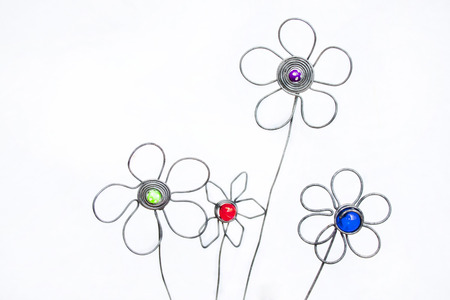 unpretentious: Decorative Artificial hand crafted flower arrangement made out of wire