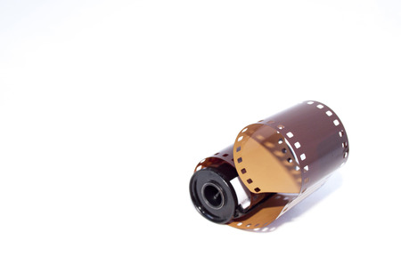 casing: 35mm photographic film extending from casing