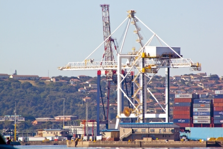 View of heavy duty crane loader in Durban South Africa Harbour Stock Photo - 22516552