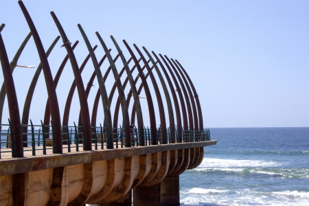 scenic view of the pier at Umhlanga Rocks Duban South Africa Banco de Imagens