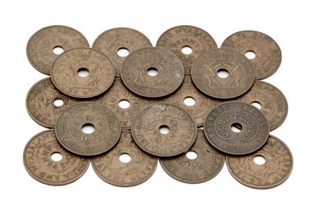 pennies: arrangement of vintage copper southern rhodesian one pennies
