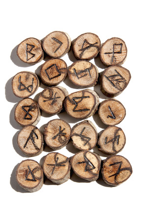 collection of ideographic runes depicting celticviking symbols photo