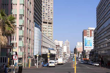 bisiness: DURBAN, SOUTH AFRICA - MARCH 22, 2014:  Central Bisiness district in Durban South Africa.