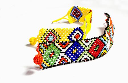 two zulu beaded bracelets in bright colors
