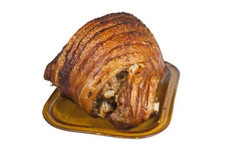 crackling: roast leg of port with crispy crackling