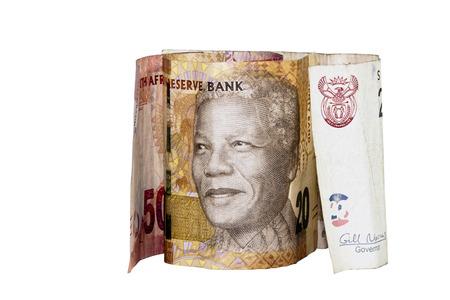 nelson mandela: south african bank notes showing Nelson Mandela