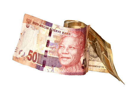 rand: Nelson Mandela fifty rand south african bank note