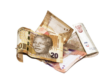 nelson mandela: four south african bank notes with Nelson Mandela Stock Photo