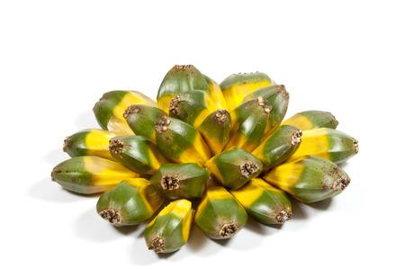 pandanus: arrangement of green and yellow fruit of the pandanas palm Stock Photo
