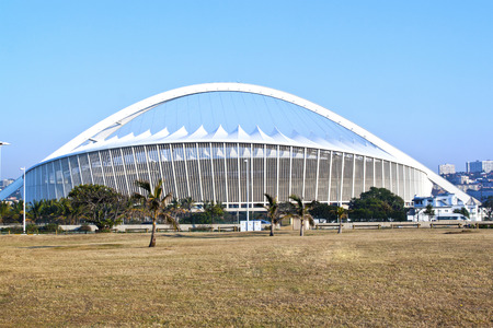 stadium  durban: DURBAN, SOUTH AFRICA - JULY 2, 2014: Moses Mabhida football stadium in Durban, South Africa