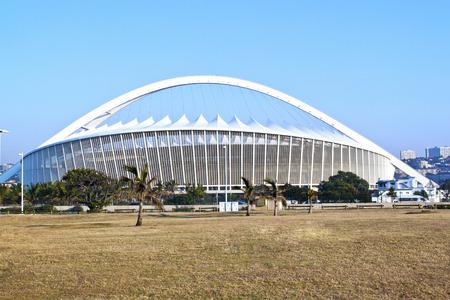 mabhida: DURBAN, SOUTH AFRICA - JULY 2, 2014: Moses Mabhida football stadium in Durban, South Africa