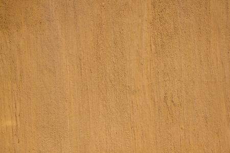 Moutarde Peinture De Couleur Sur Texture Grossière Plâtré Mur Du