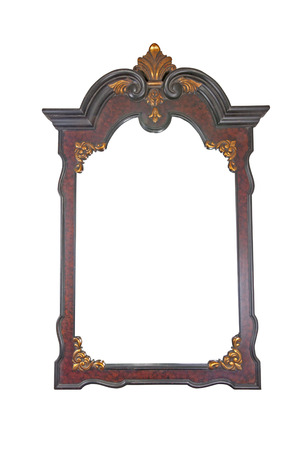 mirror frame: large decorative mirror with ornate wooden frame