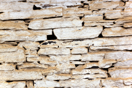 bagged: background closeup of dusty bagged vintage stone walls patterns and textures Stock Photo