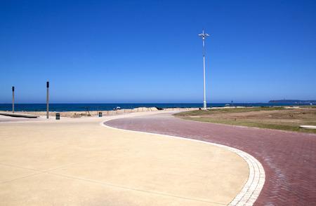refurbished: refurbished promenade at beachfront, durban south africa Stock Photo