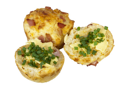 chive: bacon and cheese muffins with chive butter