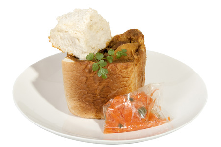 sambal: takeaway bunny chow served with carrot sambal and dhunia