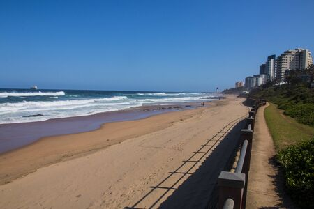 Cement path along the walkway at Durban Beachfront Stock Photo