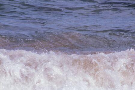 White foaming water of wave having just broken 写真素材