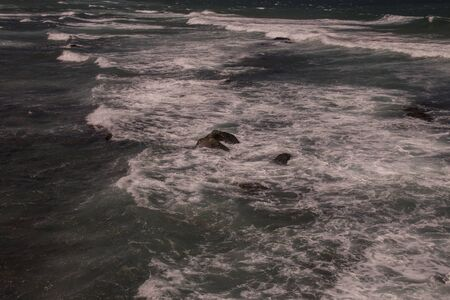 White water caused by rocks in shallows off Umhlanga beach Banco de Imagens