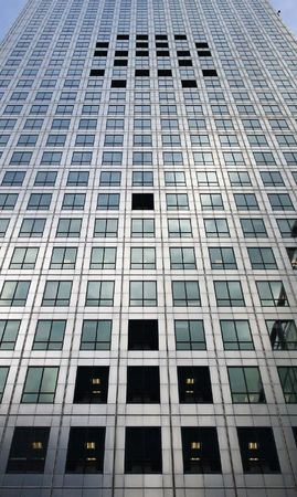 Windows shaped like space invaders on building (canada tower, london) exterior Stock Photo - 5880238