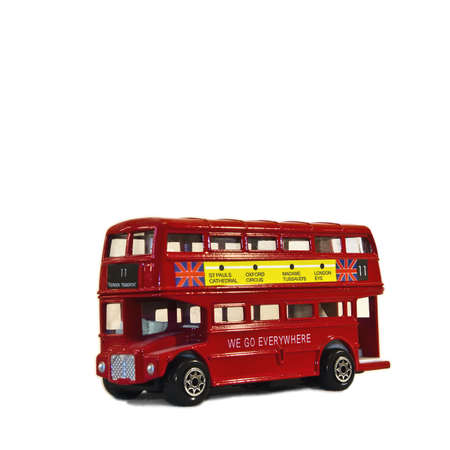 Scale model of the double decker Stock Photo - 5895484