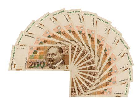 Croatian currency, 200 kuna bills Stock Photo - 5950656